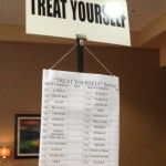 image of silent auction sign