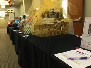 photo of silent auction display