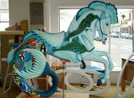 photo of Albany Oregon carousel horse
