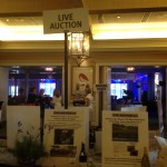 image of live auction table