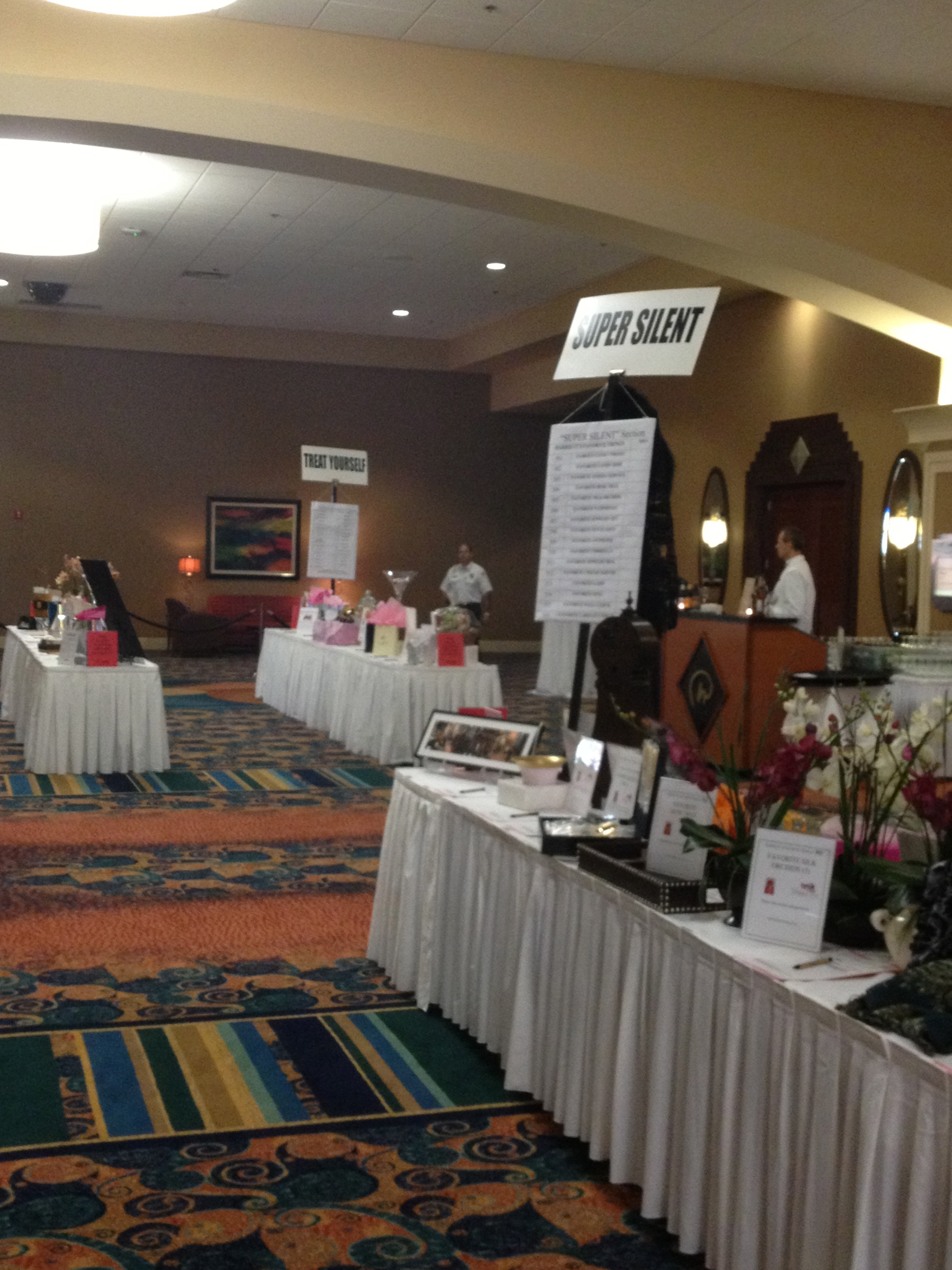 image of silent auction tables