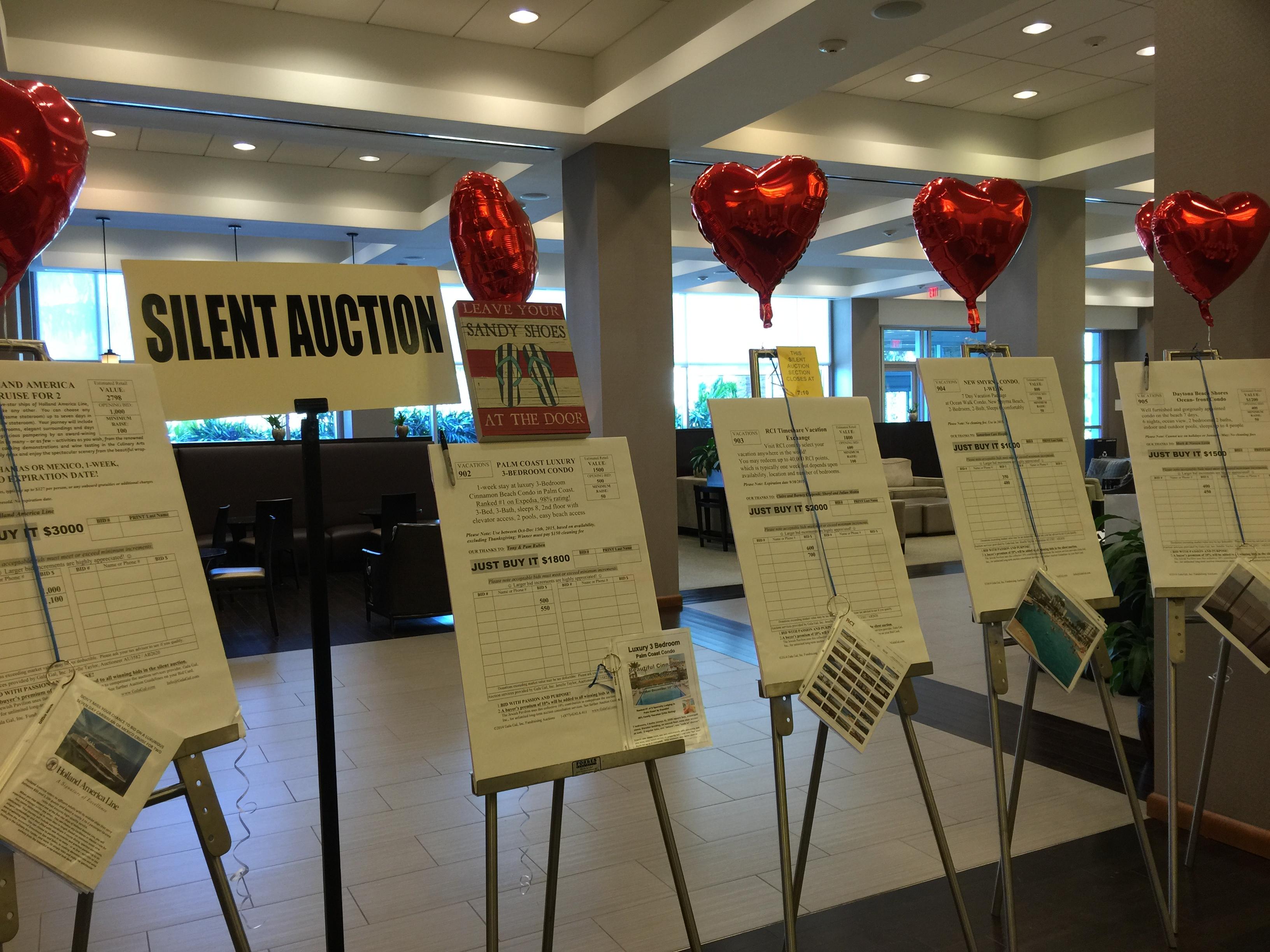 silent auction description sheets